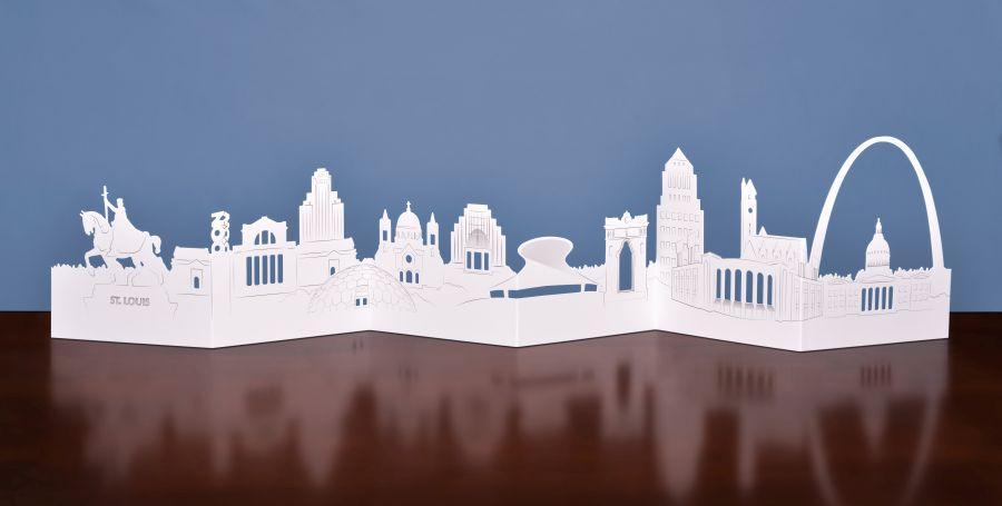 Celebrate St. Louis Die-Cut Skyline Card
